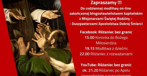 Zaproszenie do modlitwy on-line